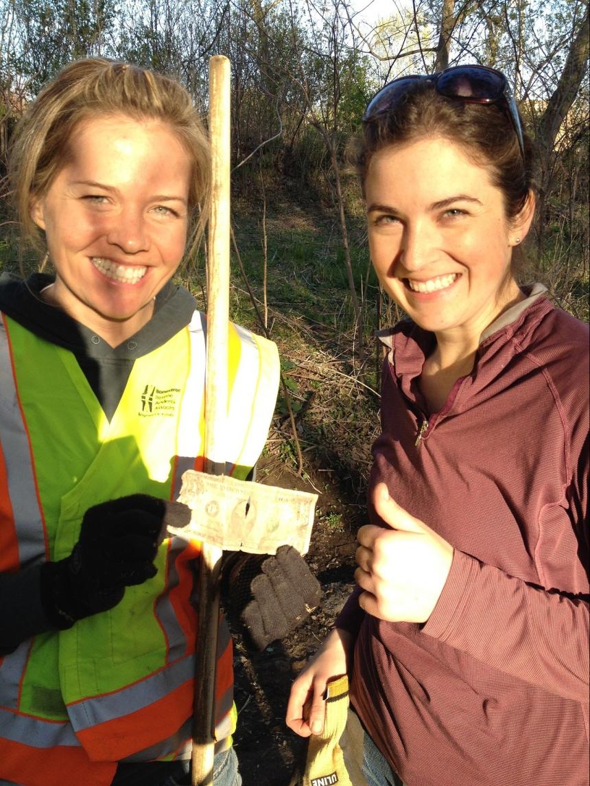 WCD staff Tara Kline and Amy Carolan