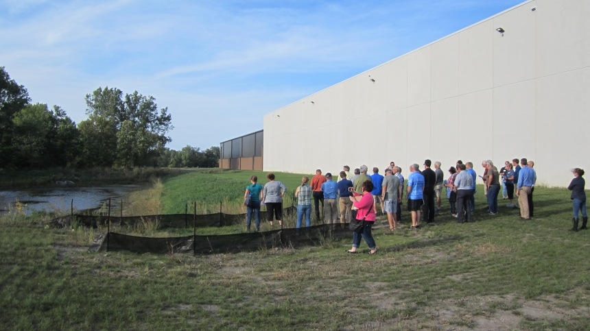 Stormwater tour at Forest Lake High, Sept 2018