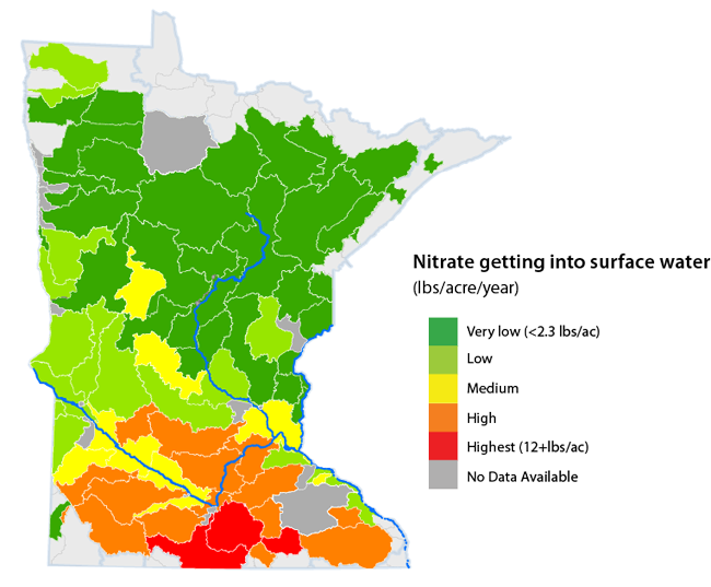 map-nitratestosurfacewater-minnesota_rev