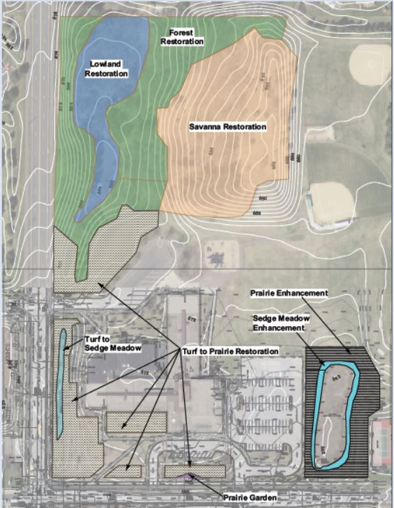 Crestview Elementary Campus Greening plan